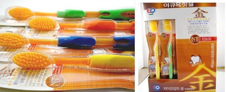 Anion Charcoal dupla adulto escova de dentes, pessoa cuidados PRESENTE