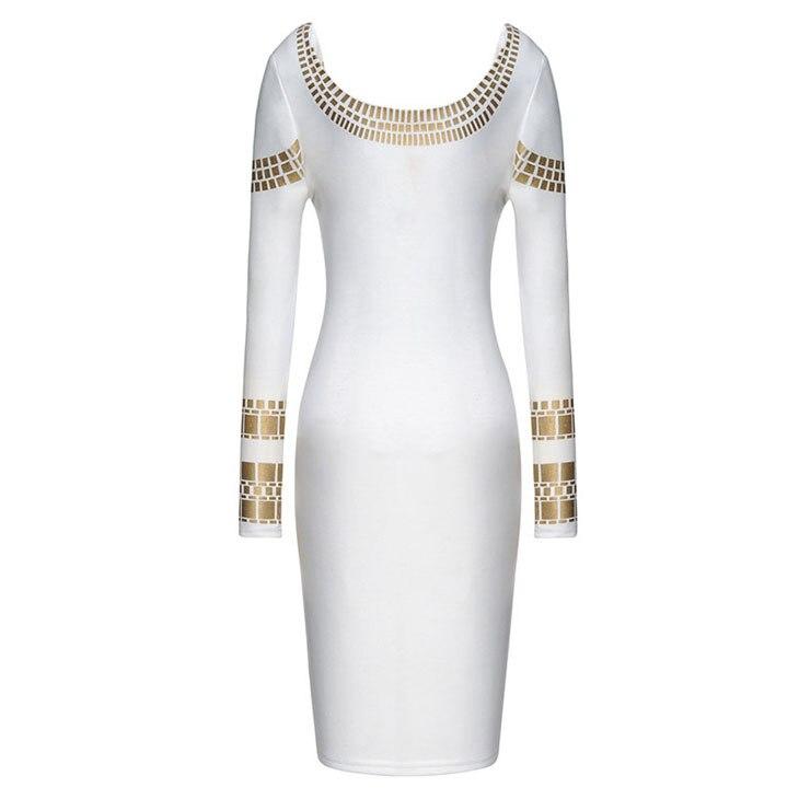 b40272ba US $21.56 11% OFF|Gorące cekiny biała sukienka kobiety jesień zima wysokiej  elastyczna sukienka z dzianiny duży rozmiar XS XXL w Gorące cekiny ...