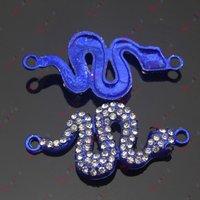 новый ювелирных изделий неоновые цвета ручная роспись боком кристалл змея подвески разъемы для шамбалы бусины браслеты решений