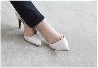 новый высокое качество женская туфли на высоком каблуке туфли на каблуках мелкая рот отметил один женские туфли бесплатная доставка