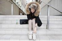 f063 бесплатная доставка женская нагар настоящее не Макс стоит с caption хлопок штаны пальто ядер пальто для оптовая и розничная 4 цветов