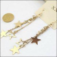 цвет золотой серьги сладкий-звезда низкая цена завод оптовая цена # sp042