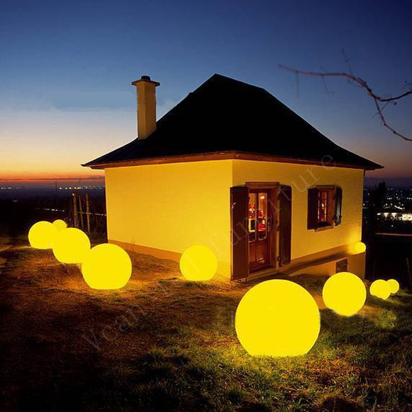 2 function waterproof 16 colors change remote control plastic outdoor light lamp sphere led ball