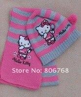 девочка кепка девочки влюбленность привет Китти шарф + шляпа вязание