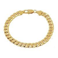 браслет ювелирные изделия 7 мм 18 к желтое золото заполненные браслет цепь ювелирные ювелирные изделия подарок цепь браслет