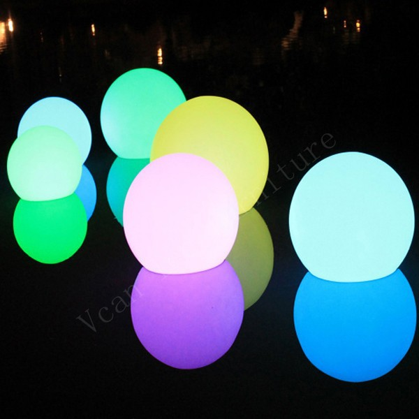 pool waterproof 16 colors change remote control plastic outdoor light lamp sphere led ball