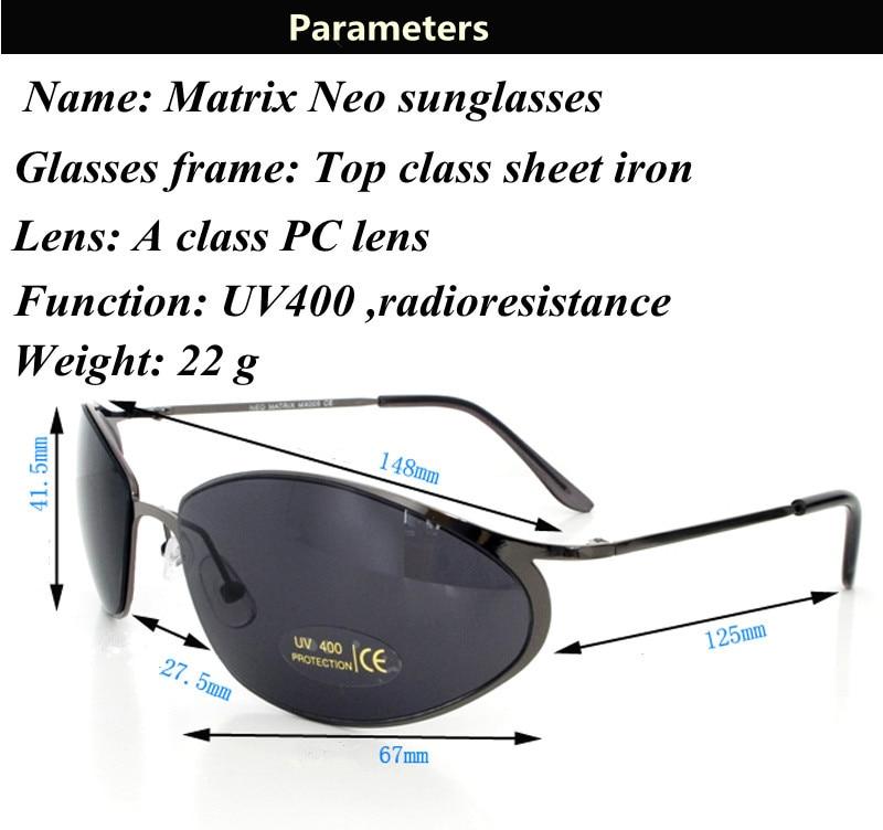 a6d54af491e Matrix Neo MX005 sunglasses man UV400 A class PC blinde version top ...