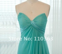 бесплатная доставка длиной до пола с плеча бабай синий цвет шифон вечерние платья ДС-044