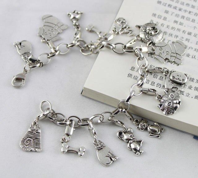 Free Ship 135 pcs tibetan silver cute charms 29x7mm #2400