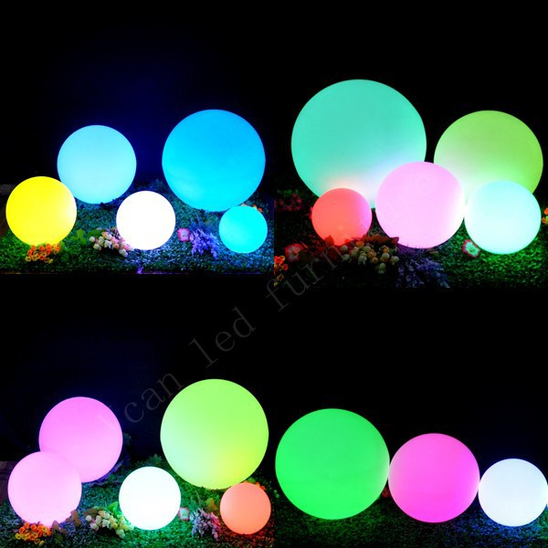 5 function waterproof 16 colors change remote control plastic outdoor light lamp sphere led ball