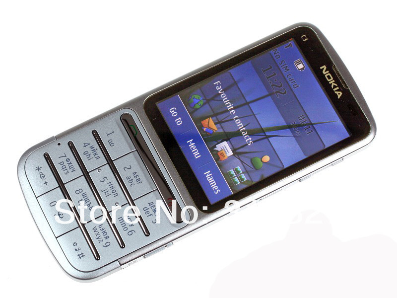 Refurbished phone Nokia C3-01 Touch and type 5MP Wi-Fi FM radio Touchscreen cell phone grey 4