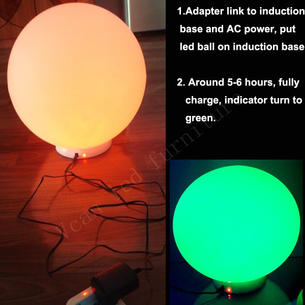 charge for waterproof 16 colors change remote control plastic outdoor light lamp sphere led ball
