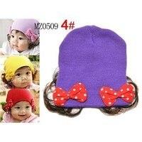 майка mt17 бесплатная доставка 100% хлопок дети шляпа, детские шапка шляпа рукава глава ледяной шапки вязаные шапки бабочка парик шляпа цвет михе