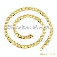 """ожерелья 24 """" 18 к желтое золото говорят мужчины в цепь ссылка ожерелье sharjah 6 мм широкий плескаться ювелирные изделия"""