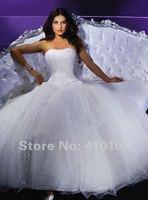 бесплатная доставка на заказ из органзы из бисера пят бальное платье свадебные платья / свадебное платье / свадебное платье