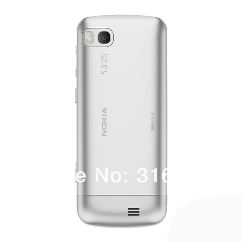 Refurbished phone Nokia C3-01 Touch and type 5MP Wi-Fi FM radio Touchscreen cell phone grey 5