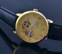механические женская мужская золото-тон скелет механические мужские / женские часы