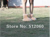 бесплатная доставка! в помещении ботинки, домашняя обувь зима ноги теплые, розовый и бежевый, М / Л