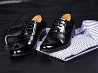 европа горячая распродажа черные кожаные туфли оксфорд туфли для мужчин / мальчики свадьба бесплатная доставка EMS / DHL и доставка - скидка 50% от - нет.9908