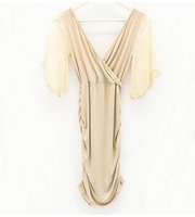 лето грудь Global Seal светло-стоит в shirttiny упаковка хип клуб платье 3 цветов бесплатная доставка для воздушной почтой 8326