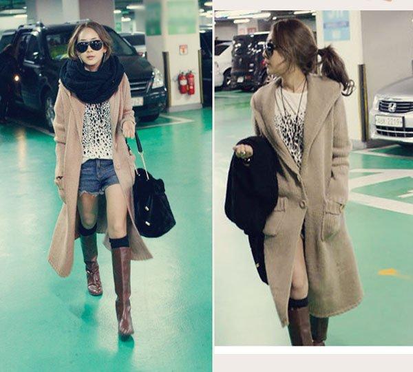 Free Shipping Fashion Women Casual Very Long Sweater Coat,Knitted ...