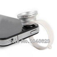 оптовая продажа бесплатная доставка круг клип 2 в 1 0.67 X и широкий угол + макро-objective для iPad для iPhone для iPod смартфон линзы прямая поставка