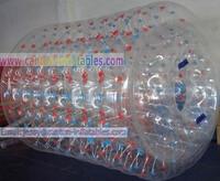 горячая распродажа 0.8 мм пвх НД ролик воды / воды зорб / inflatabe игры + вентилятор + бесплатный экспресс доставка
