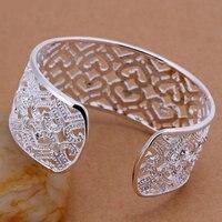 для браслет 925 серебро довольно женщины в в форме сердца с циркон ювелирные изделия браслет b166