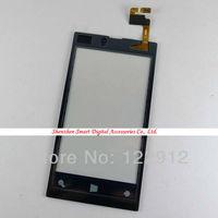 новый ремонт часть с сенсорным экраном дигитайзер объектив для Nokia Lumia 520 бесплатная доставка