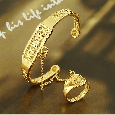 Arrive Fashion Jewelry Bangle Baby 18K Yellow Gold Filled Twist