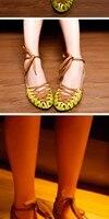 соломы зеленый горошек туфли сандалии женские сандалии оптовая продажа, бесплатная доставка