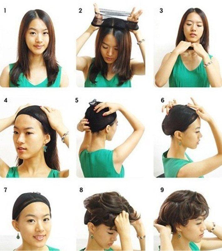 10Units Wig Caps For Making Wigs Stocking Wig Cap Snood Nylon ... b6e641bf3