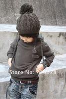 бесплатная доставка детей дети мальчики кнопка молния худи пальто мужская толстовка размер 3 - 8 лет