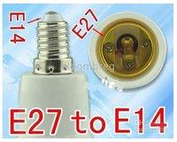 бесплатная доставка новый пк Е27 к Е14 из светодиодов галоида cfl и лампочка гнездо адаптер конвертер галогенные