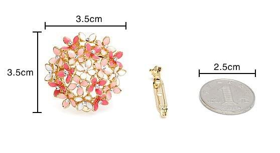 Dual Purpose Brooch & Clip Enamel Scarf Buckle*
