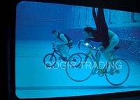 силикон велосипед заднего колеса из светодиодов фонарик черный лы-6007