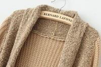 новый осень мода женщин кофты верхней одежды сплошной цвет винтаж лоскутное п-шеи пальто леди хлопок смешанные полный рукав пальто