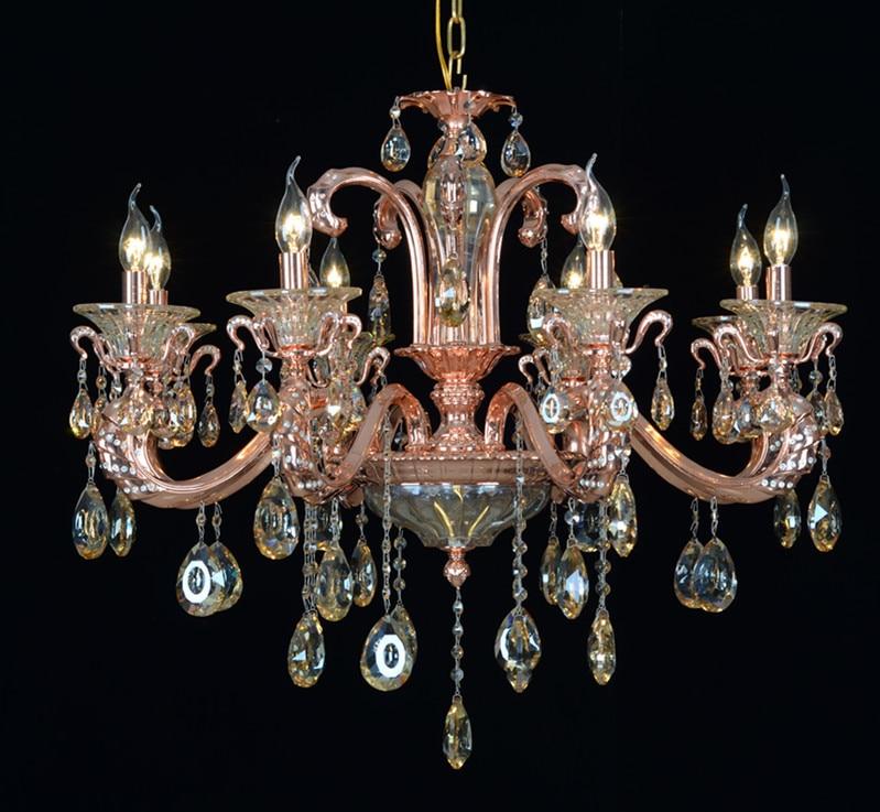 Wholesale new rose gold chandeliers k9 crystal lamp shade luxury aeproducttsubject aloadofball Choice Image