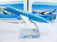 бесплатная доставка, авиакомпания модель самолета, синий модель самолета, 16 см, модели самолета металла