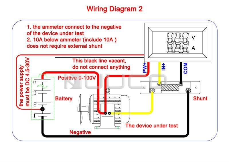 yb27 va digital volt ammeter voltmeter amp 2 in 1 dual display car rh aliexpress com AC Voltmeter Wiring-Diagram Auto Voltmeter Wiring-Diagram