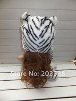 рождественский подарок партия шляпа мода мультфильм животных шляпы шляпы белый тигр плюша теплую шапку
