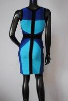 высокое качество женские сексуальное облегающее бандажное платье n004 с V шеи вечернее платье нарядное платье