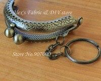 20 шт. 6, 5 см Antique Bronze металл шитьё Портман рама своими руками мешок рукоятка monet запчасти