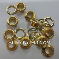 бесплатная доставка 500 шт. внешний диаметр : 9 мм / Внутренний диаметр : 5 мм цвет золота ушко металл Nikon