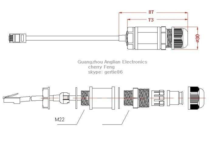 Aliexpress.com : Buy M22 CAT5E connector RJ45 gigabit plug Ethernet ...