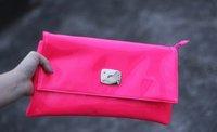 новое поступление женщин свободного покроя флуоресценции цвет искусственная кожа день клатч от кутюр патентные кожаный кошелек ну вечеринку сумки