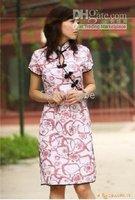 чонг - сэм Cartel Elegant * низкая - прибыль Seal китайский стиль шелк женщины платье платье подружки невесты мини