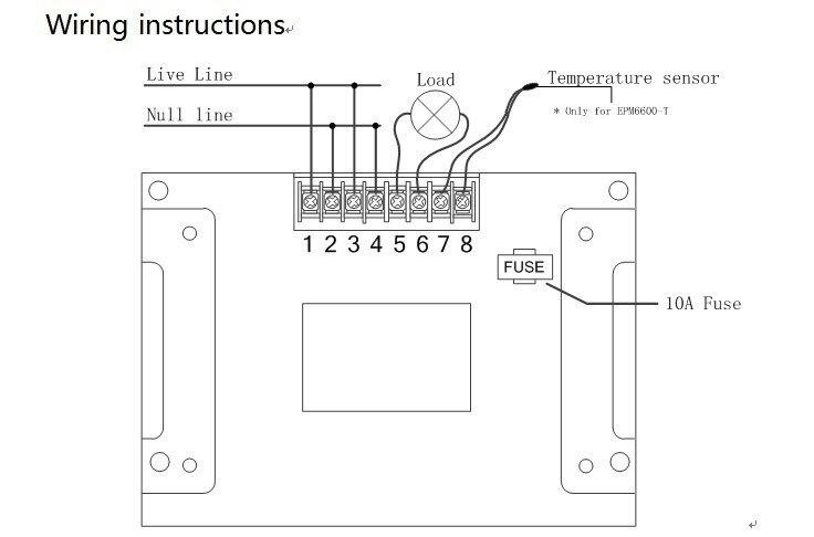 Купить EPM6600 10A/2000 Вт цифровой энергии ПЕРЕМЕННОГО ТОКА метр/измеритель мощности/измерений электрических/Частота/квтч метр дешево