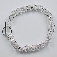 925 ювелирные изделия довольно узел обхватить цепочка браслет / браслет h033