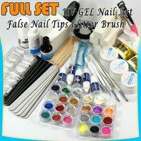 полный комплект уф-гель ногтей советы блеск бревно кисти для инструментов # 218